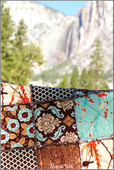 Delta Breeze rag quilt and Yosemite Falls