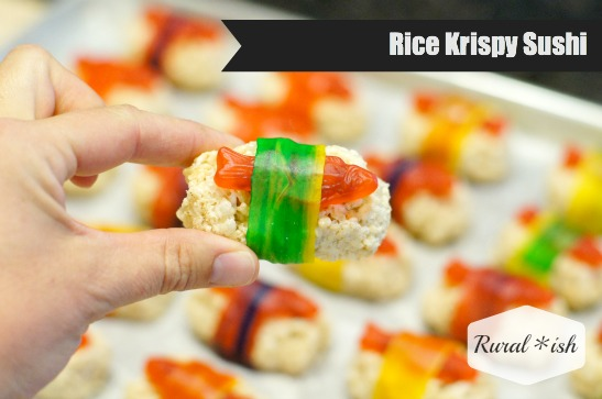 How to make rice krispy sushi, by Rural*ish
