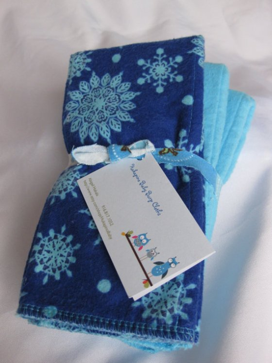 Hukapino Baby Burp Cloths on Etsy