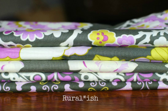 Fabric for Rural*ish baby girl rag quilt