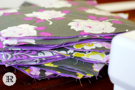 Violet, pink, gray, charcoal, roses, flowers, butterflies, baby girl rag quilt